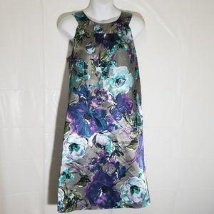 Denver Hayes silky flowery dress w/ built in bra